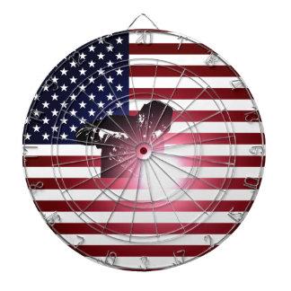 Welder and American Flag Dartboard