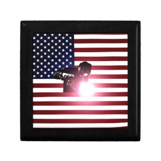 Welder and American Flag Gift Box