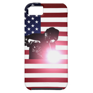 Welder and American Flag iPhone 5 Case
