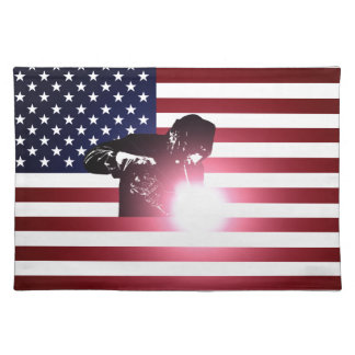 Welder and American Flag Placemat