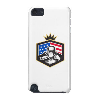 Welder Arc Welding USA Flag Crest Retro iPod Touch 5G Cases
