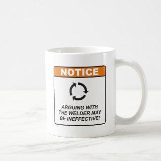 Welder / Argue Classic White Coffee Mug