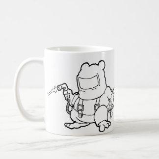 welder beaver coffee mug