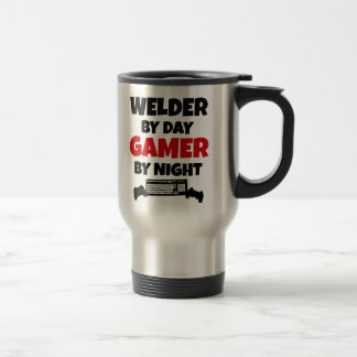 Welder by Day Gamer by Night 15 Oz Stainless Steel Travel Mug