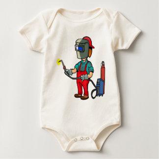 Welder Craftsman Construction Worker Repairman Baby Bodysuit