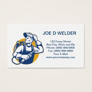 Welder Fabricator Welding Retro business card