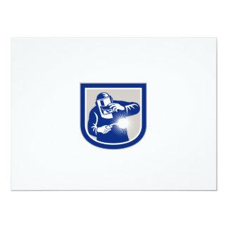 """welder_front_mask_SHIELD_GR.png 6.5"""" X 8.75"""" Invitation Card"""