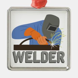 Welder Metal Ornament