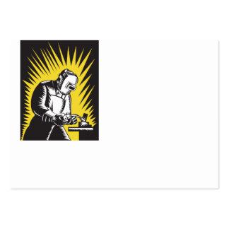Welder Metal Worker Welding Retro Large Business Card