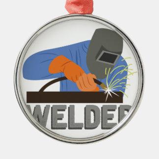 Welder Silver-Colored Round Ornament