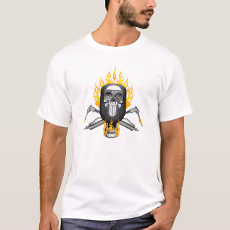 Welder Skull: Flaming Mask T-Shirt