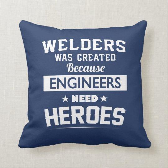 Welder Throw Pillow