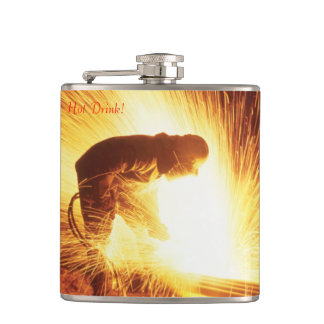 Welder Vinyl Wrapped Flask