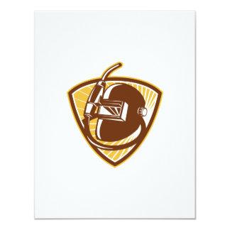 Welder Visor And Welding Torch Retro Shield Personalized Invitation
