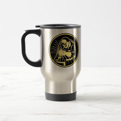 Welder With Welding Torch Visor Retro Coffee Mugs