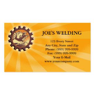 Welder Worker Welding Torch Retro Business Cards