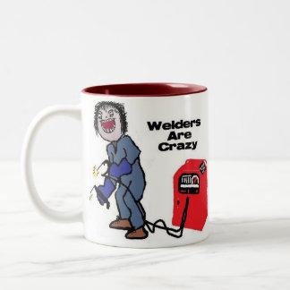 Welders are Crazy Two-Tone Coffee Mug
