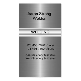 Welding Construction Business Cards