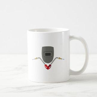 Welding Mask & Torch Basic White Mug