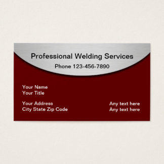 Welding Metalwork Services Business Card