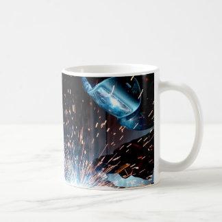 Welding Sparks Basic White Mug