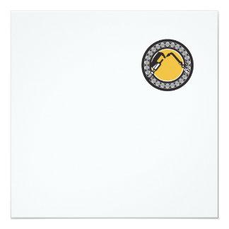 "Welding Torch Caliper Ball Bearing Circle Retro 5.25"" Square Invitation Card"