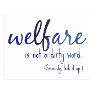 Welfare Is Not a Dirty Word Postcard