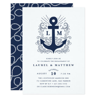 Well Anchored | Engagement Party Invitation