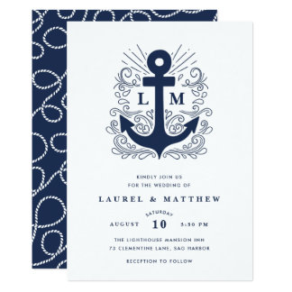 Well Anchored | Nautical Wedding Invitation