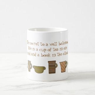 Well Balanced Life Cup of Tea Book Mug