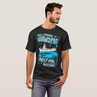 Well Behaved Grandpas Rarely Make History Canoeing T-Shirt