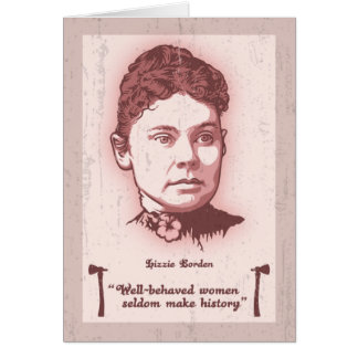 Well Behaved Lizzie Card