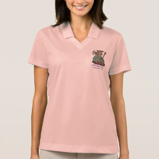 Well behaved women rarely make history, green polo shirt
