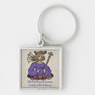 Well behaved women rarely make history, purple key chain