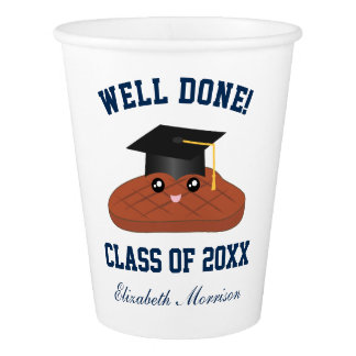 Well Done Class of 2018 Graduation Party Decor Paper Cup