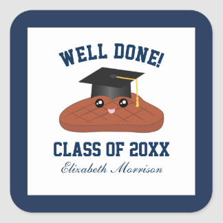 Well Done Class of 2018 Graduation Party Favors Square Sticker
