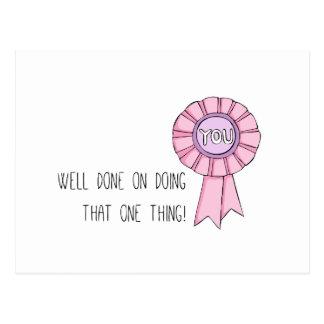 """""""Well done"""" Postcard (Art by Em Somerville)"""