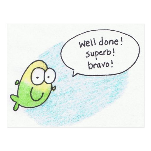 Well done super bravo post card fish zazzle Fish for jobs