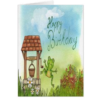 Well frog birthday card
