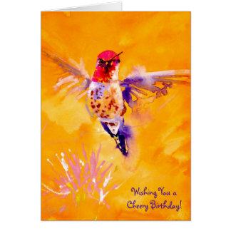 """Well Hello!"" Hummingbird Print Card"