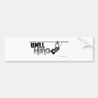 Well Hung (Ellipsoidal) Bumper Stickers