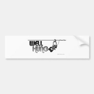 Well Hung (Ellipsoidal) Bumper Stickers