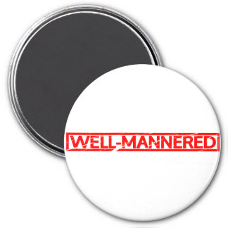 Well-mannered Stamp Magnet