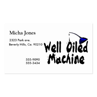 Well Oiled Machine Oil Can Business Card