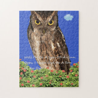 Well Owl Be A Son Of A Gun. Jigsaw Puzzle