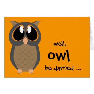 Well OWL be darned ... Note Card Stationary