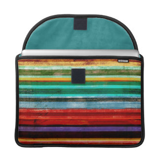 Well-padded Macbook Pro Sleeve Rainbow Striped