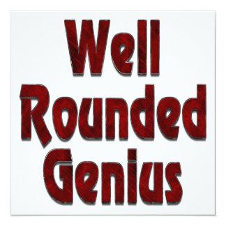Well Rounded Genius Red Custom Invites