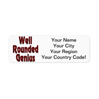Well Rounded Genius Red Return Address Label