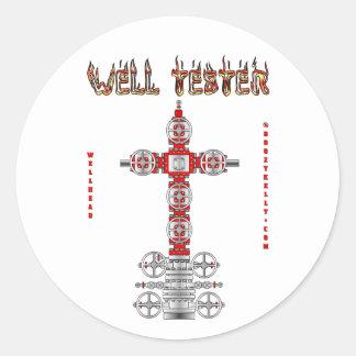 Well Tester Sticker